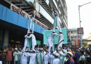 Bisleri in association with Mumbai Dabbawala performed an extraordinary flashmob