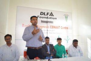 DLF Sh. Vinay Pratap Singh, ADC, addressing the gathering.